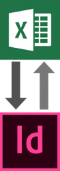 DTP opmaak mbv Indesign en excel koppeling